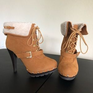 Size 8.5 Baby Phat Construction Heeled Boots